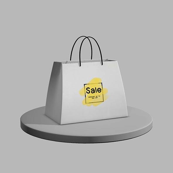 Shopping Bag setup and texture.