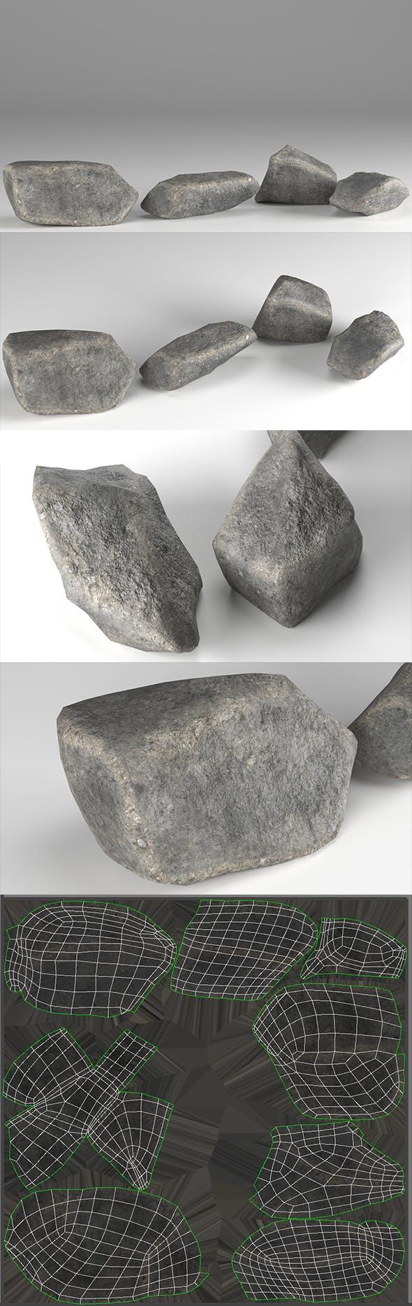Stones Pack v1 - 3DOcean Item for Sale