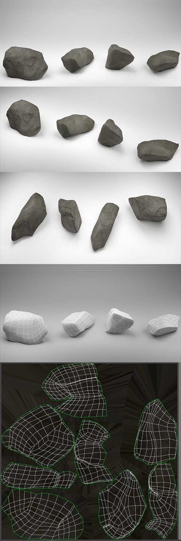 Stones Pack v2 - 3DOcean Item for Sale