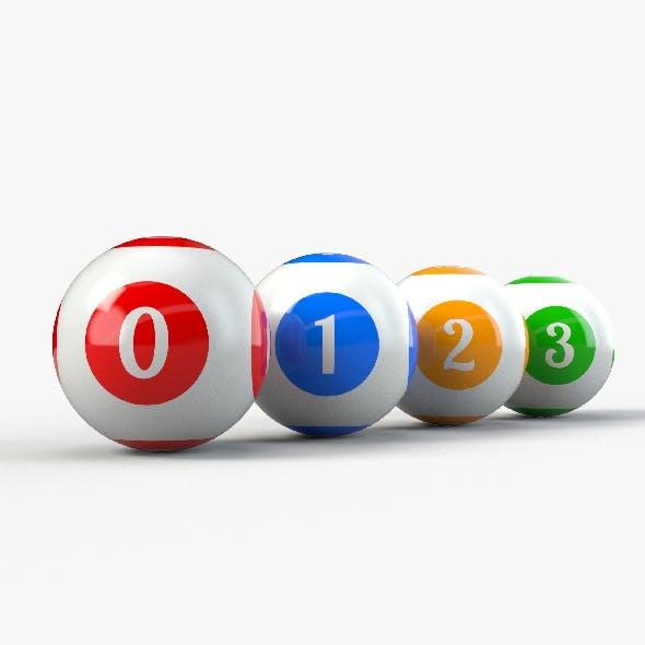 Bingo Balls set with PBR Textures - 3DOcean Item for Sale