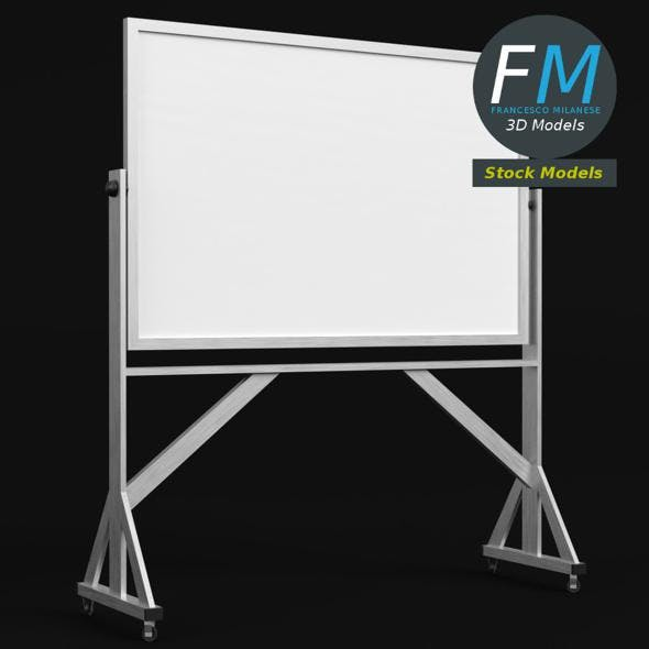 Reversible freestanding whiteboard