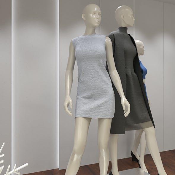 Cloth shop display - 3DOcean Item for Sale