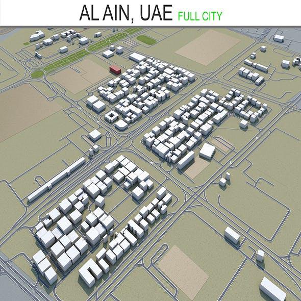 Al Ain City UAE 3D model 65 km