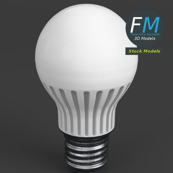 Florescent LED light bulb lamp - 3DOcean Item for Sale