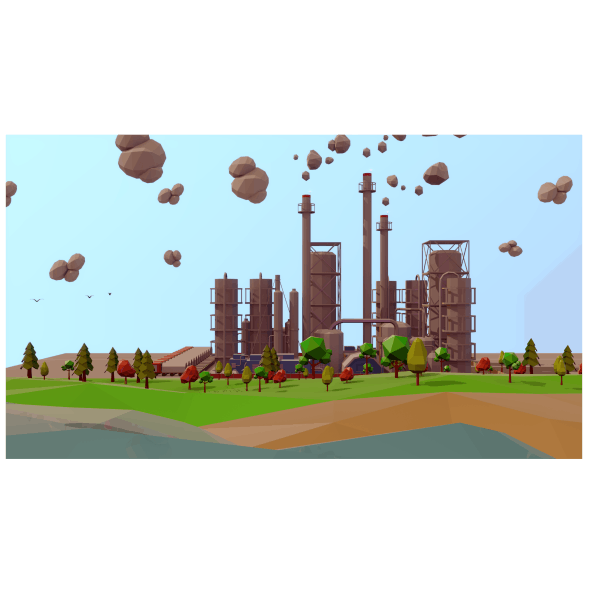 Refinery 3D models Low Poly