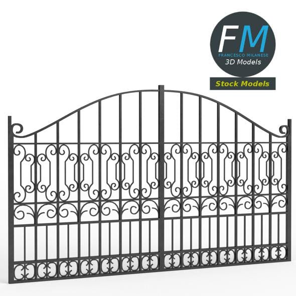 Iron gate 3 - 3DOcean Item for Sale