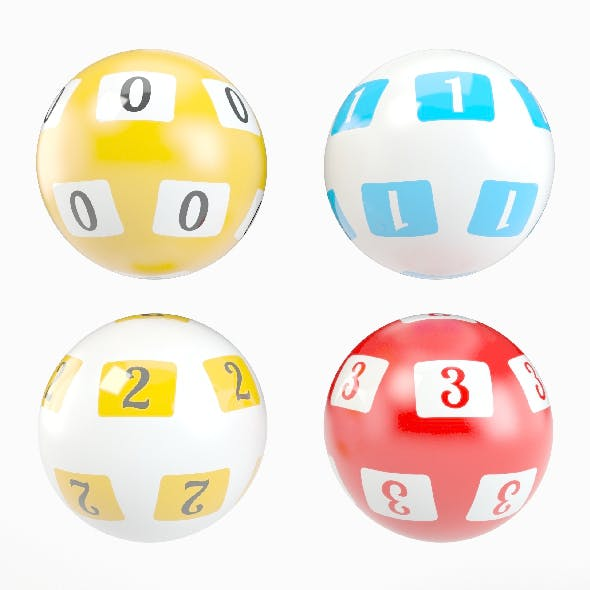 Lottery Balls set with PBR Textures - 3DOcean Item for Sale