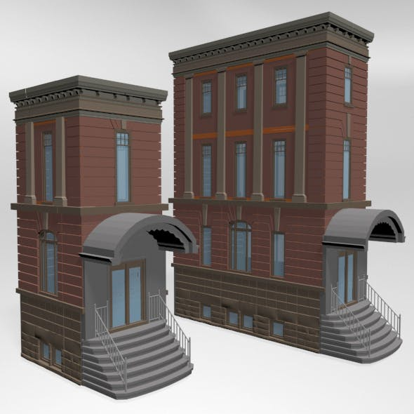 Modular Buildings 01 - 3DOcean Item for Sale