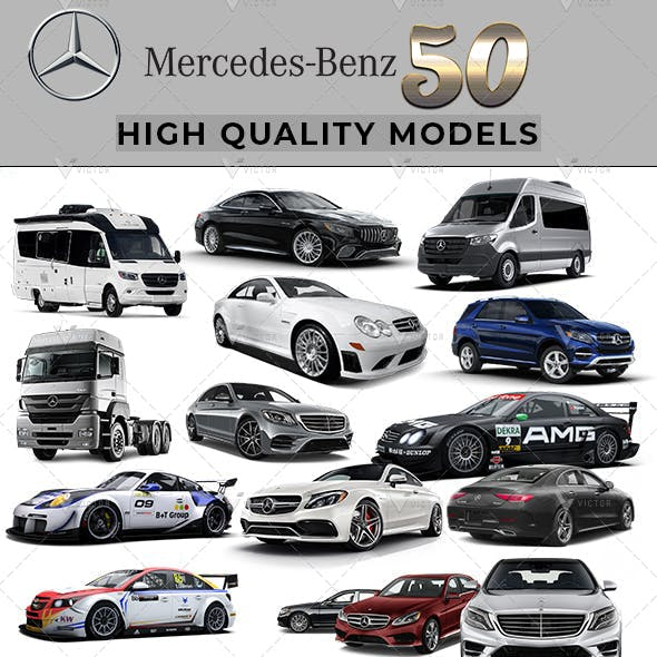50 Mercedes Cars Collection Pack