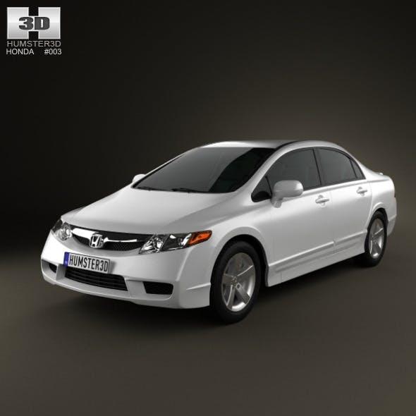 Honda Civic Sedan 2009 - 3DOcean Item for Sale