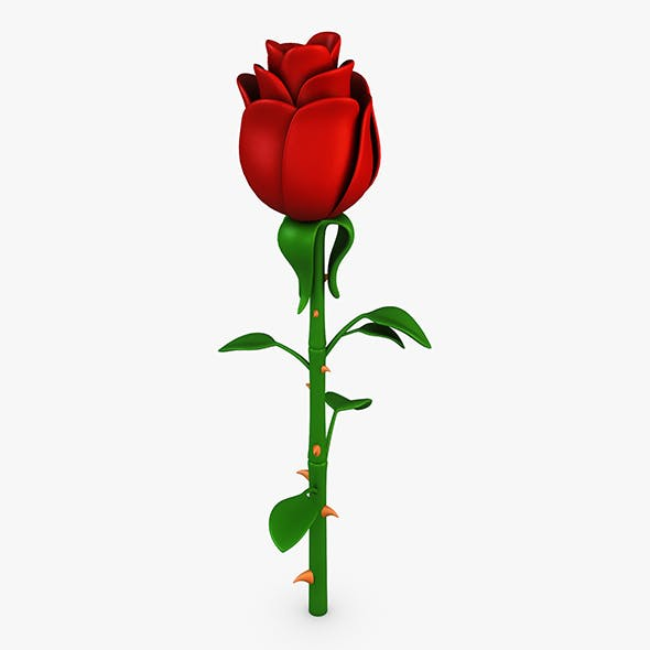 Cartoon Rose Flower v 1