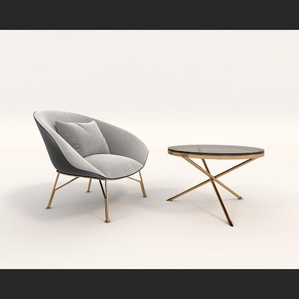 Contemporary Design Armchair Set 7