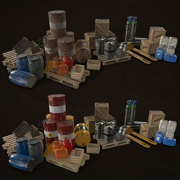 Industrial Warehouse Pack Vol 1 - Low Poly