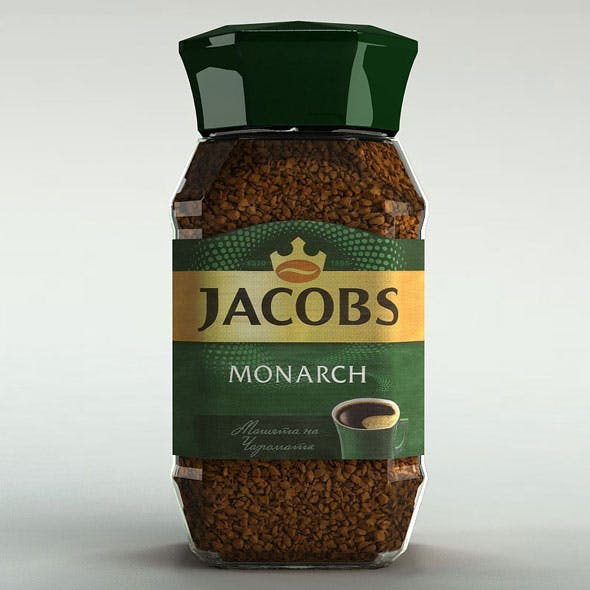 Jacobs Monarch - Instant Coffee Jar - 3DOcean Item for Sale
