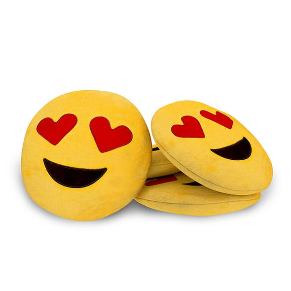 Heart Smiley Emoji Cushion