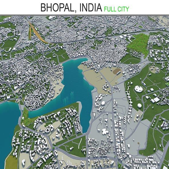 Bhopal city India 3d model 70km