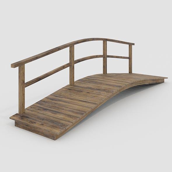 Bridge with one handrail