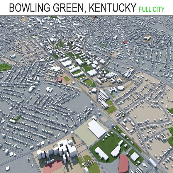 Bowling Green, Kentucky city USA 3d model 40 km