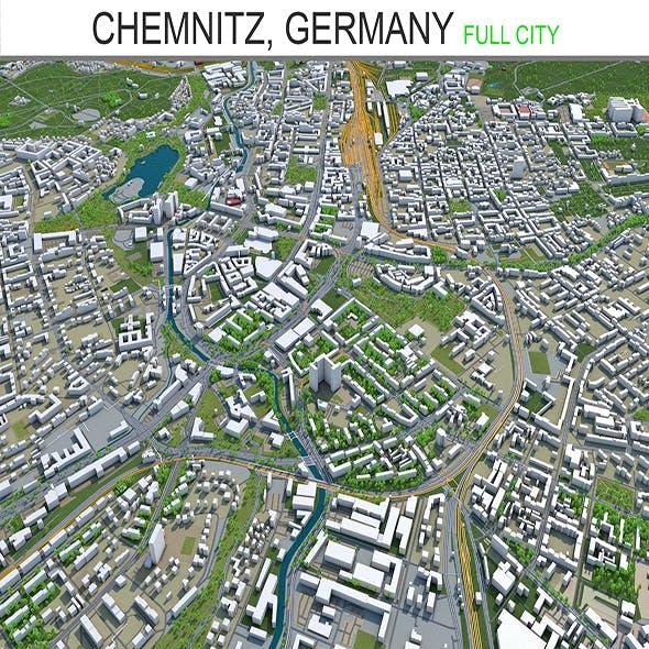 Chemnitz city Germany 3d model 40Km