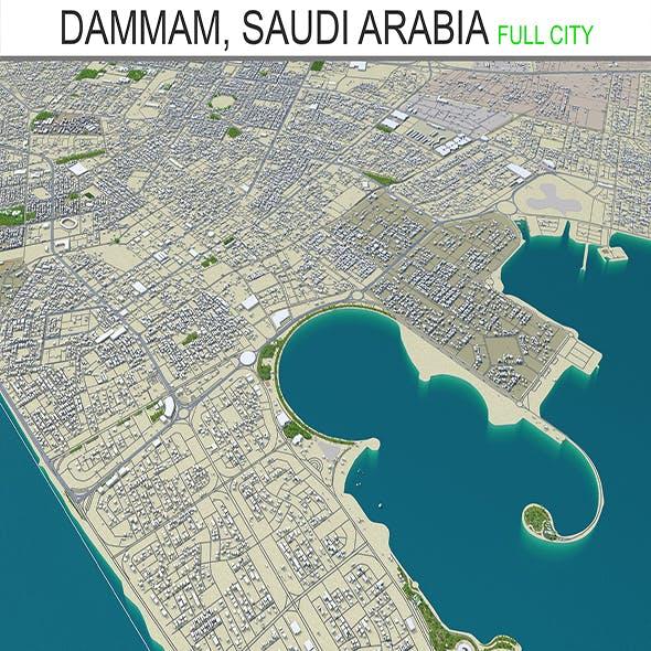 Dammam, Saudi Arabia city 3d model 70Km