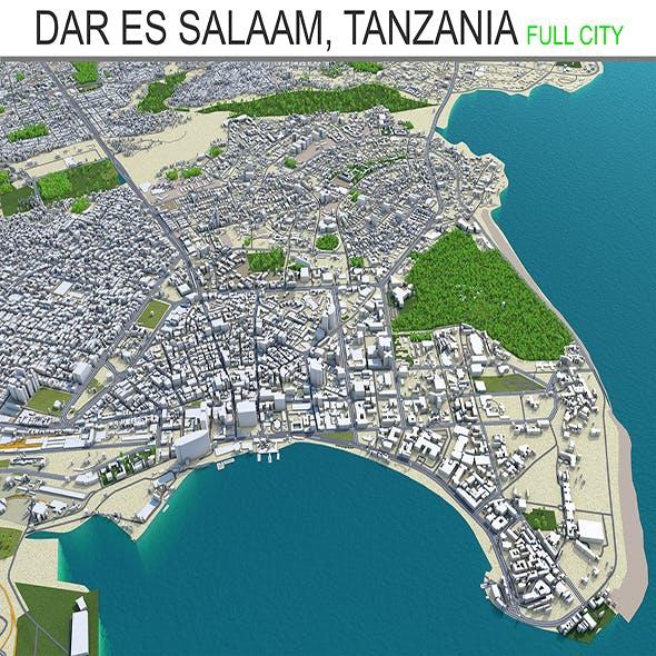Dar es salaam city Tanzania 3d model 70km