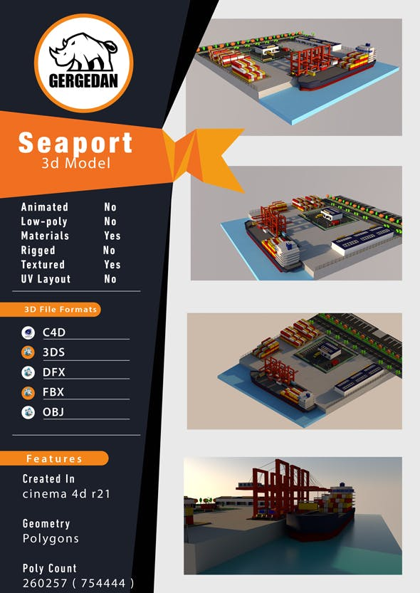 Seaport - 3DOcean Item for Sale