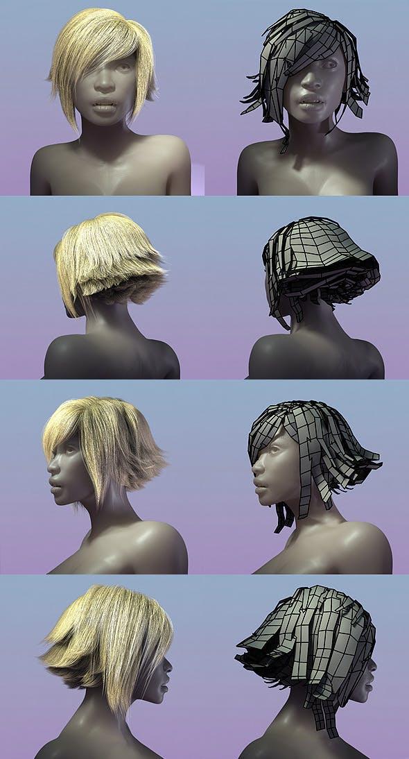 Female Hair Style 002 - 3DOcean Item for Sale
