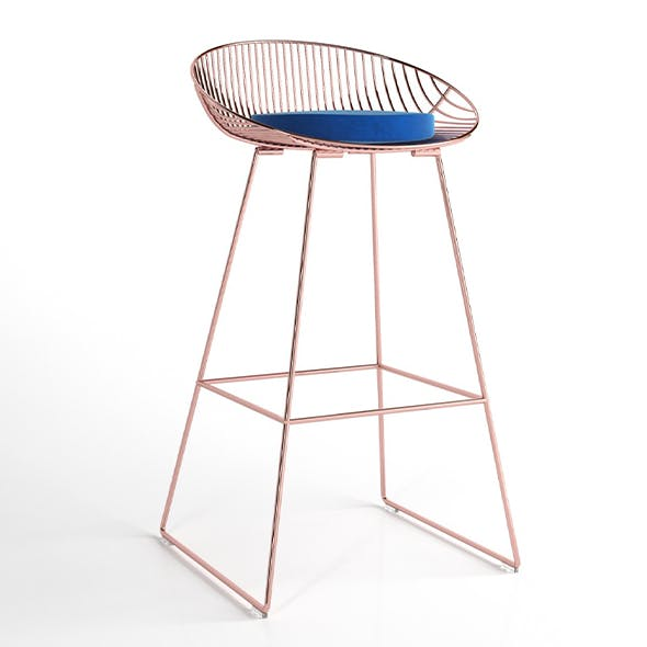 Wire chair - 3DOcean Item for Sale