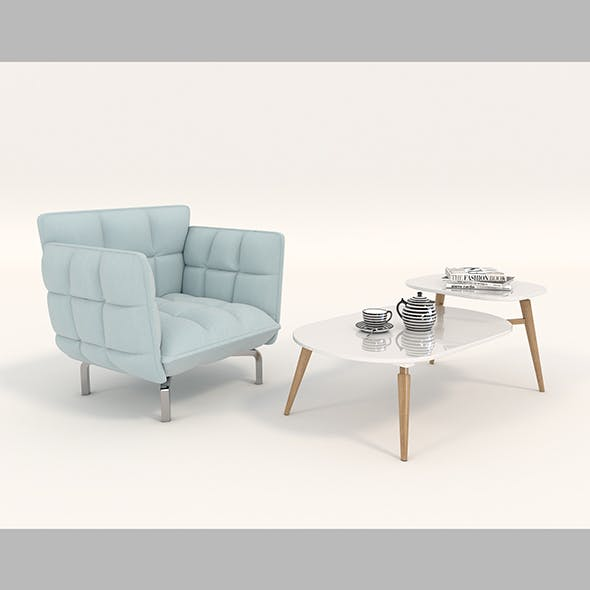 Modern Table and Chair Set 6
