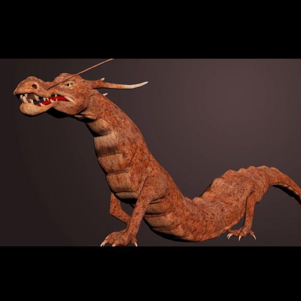 CGI Chinese Dragon Rigged 3DSMax