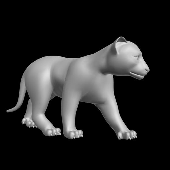 Tiger Cup Rigged 3D model