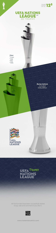 UEFA Nation League 3D Model Trophy - 3DOcean Item for Sale