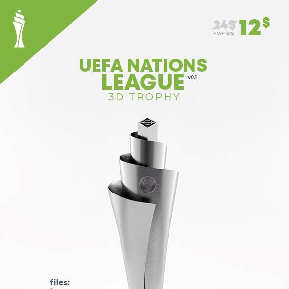UEFA Nation League 3D Model Trophy