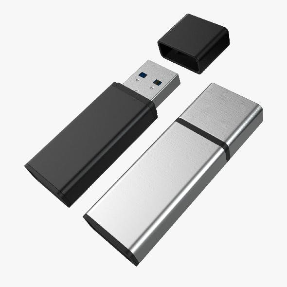 USB Stick with 2 set of 4K PBR Textures