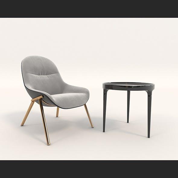 Contemporary Design Armchair Set 8
