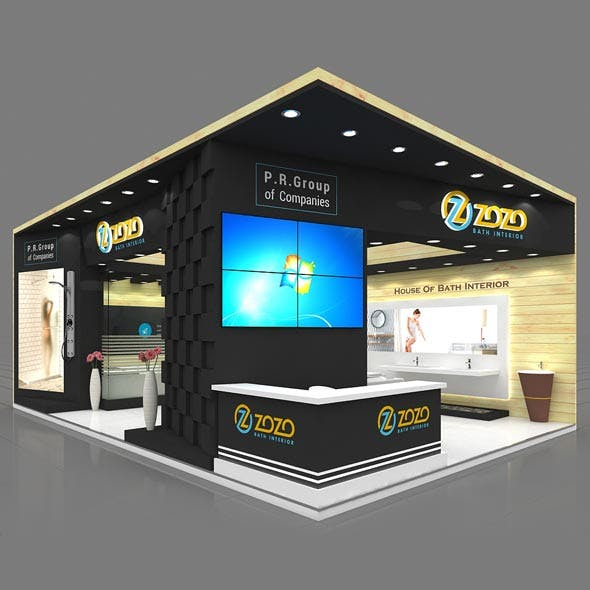 Exhibition Booth 3D Model - 6x9 mtr