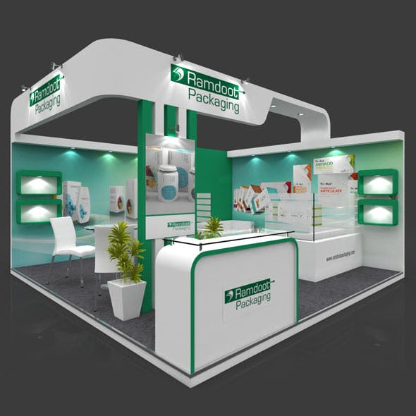 Exhibition Booth 3D Model - 5x5 mtr