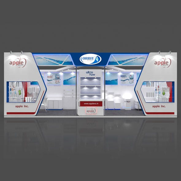 Exhibition Booth 3D Model - 10x3 mtr