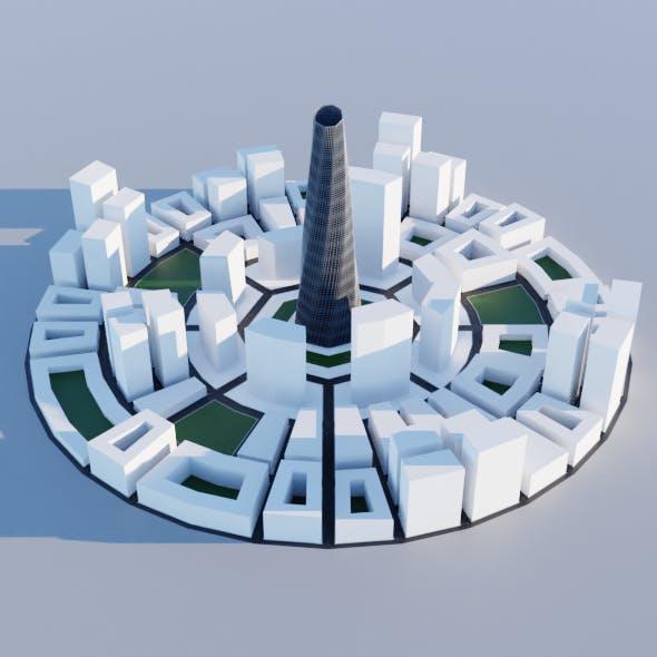 Low Poly Contextual City - 3DOcean Item for Sale