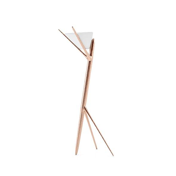 Modern idustrial cooper floor lamp (V-RAY)
