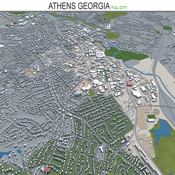 Athen city Georgia 3d model 40 km