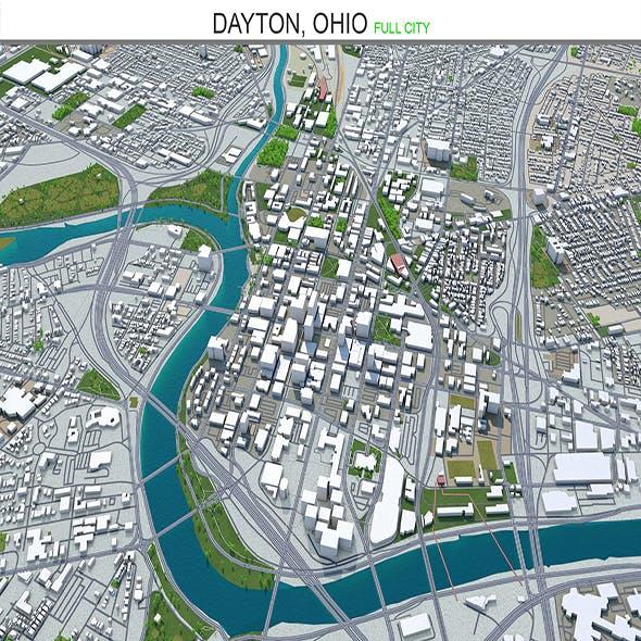 Dayton City ohio 3d model 50km