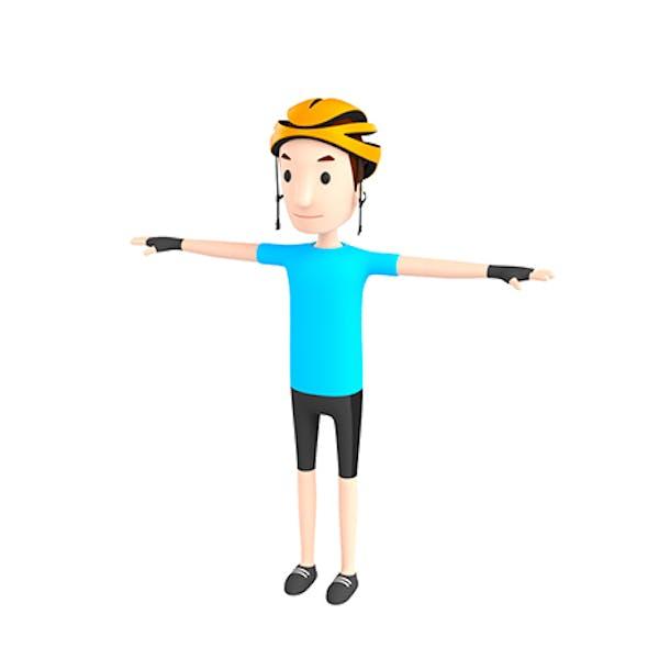 CartoonMan032 Cyclist