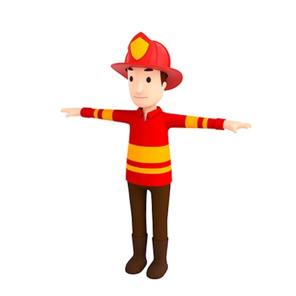 CartoonMan037-Firefighter