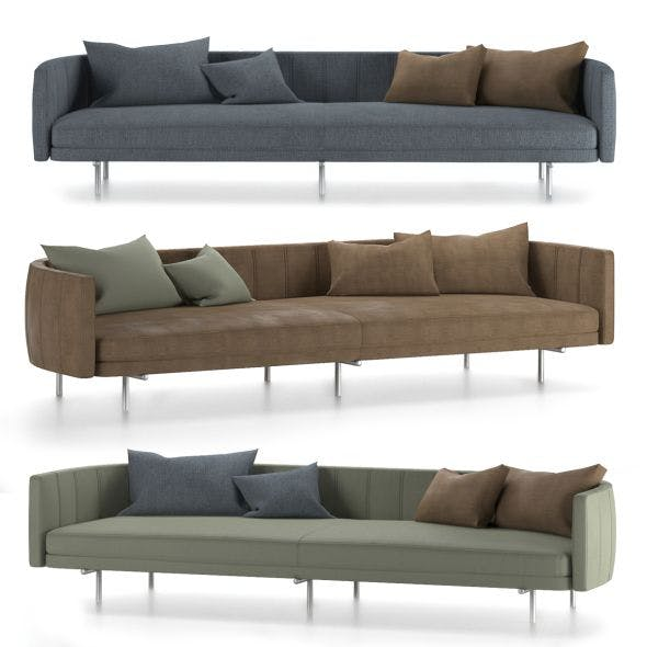 Sofa Torii and leather and cloth pillow 3D model - 3DOcean Item for Sale