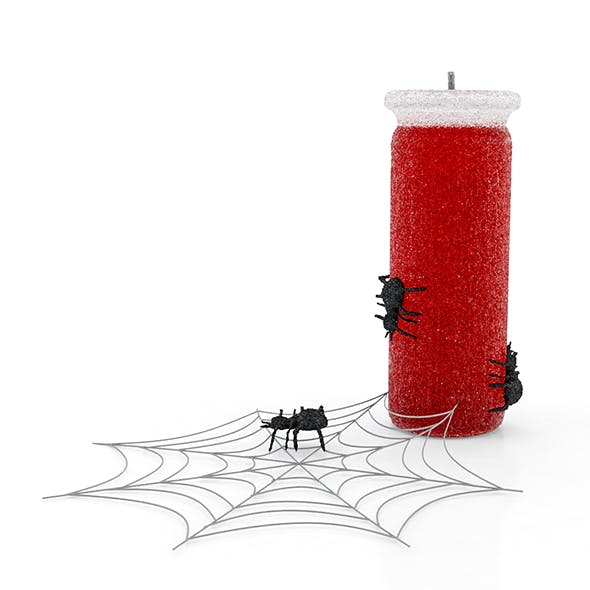Spooky Spider Halloween Candles