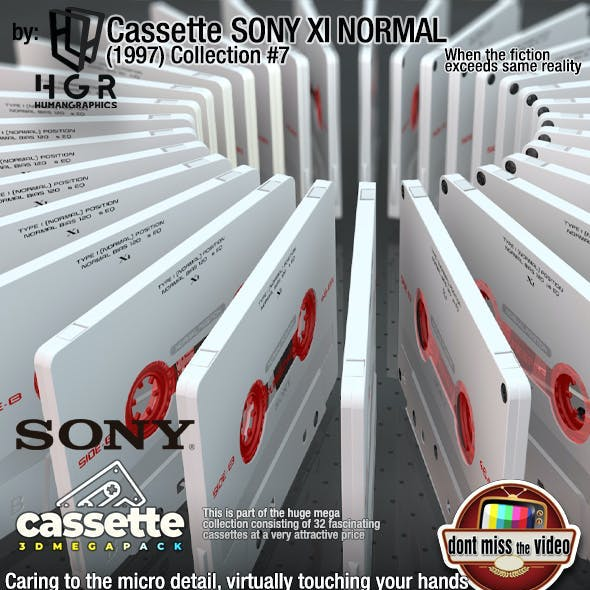 Cassette Sony XI Normal Position(1997) collection #7
