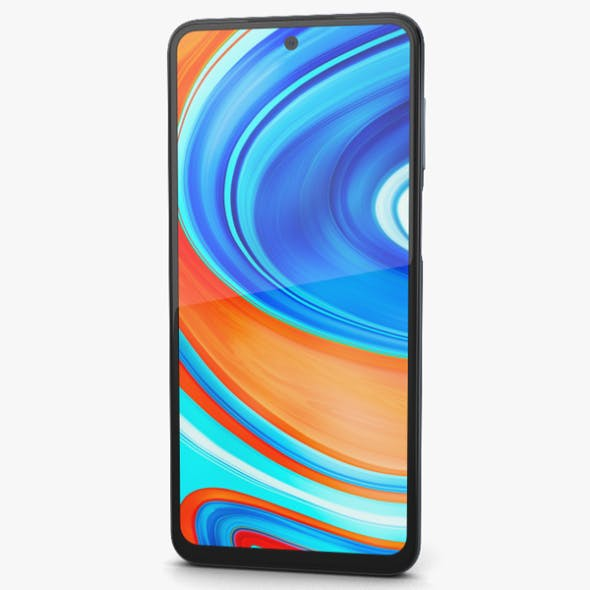 Xiaomi Redmi Note 9 Pro Interstellar Gray - 3DOcean Item for Sale