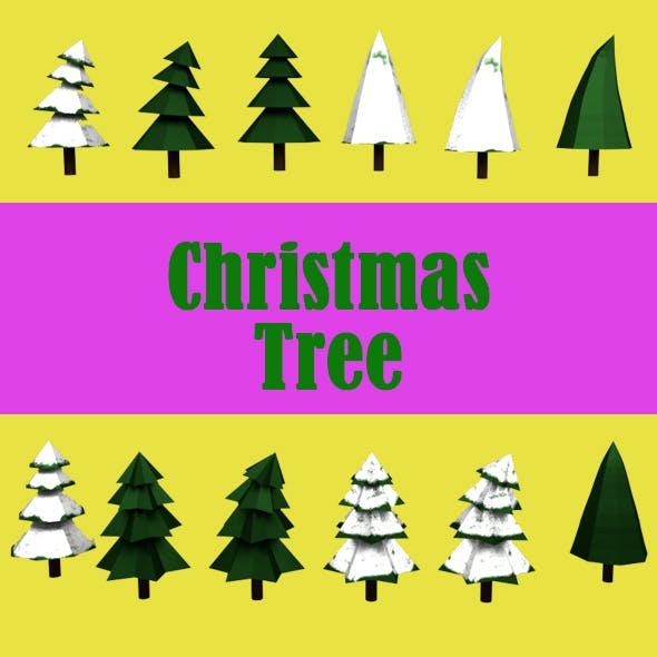 Christmas Tree Pack - 3DOcean Item for Sale