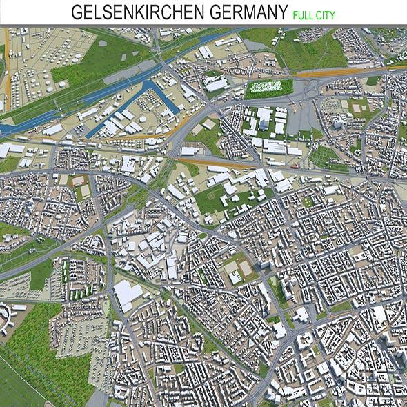 Gelsenkirchen city Germany 3d model 30km - 3DOcean Item for Sale